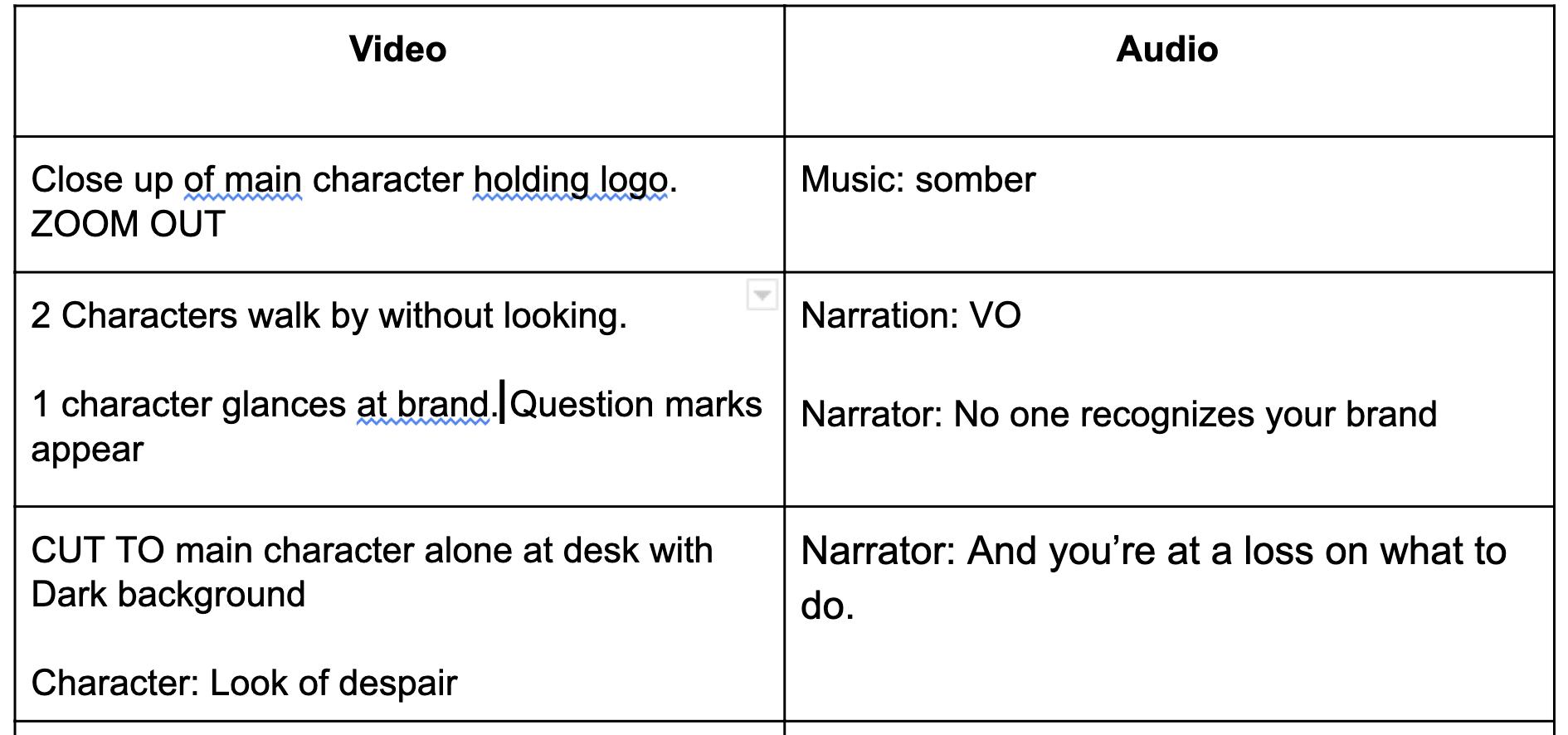 video script example